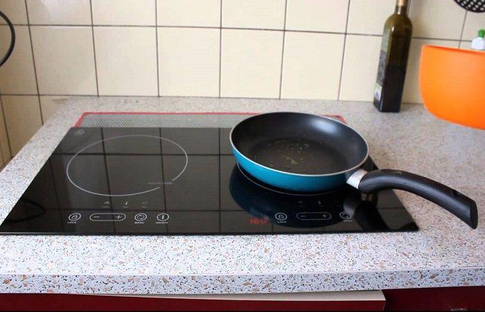 разогрета сковородка