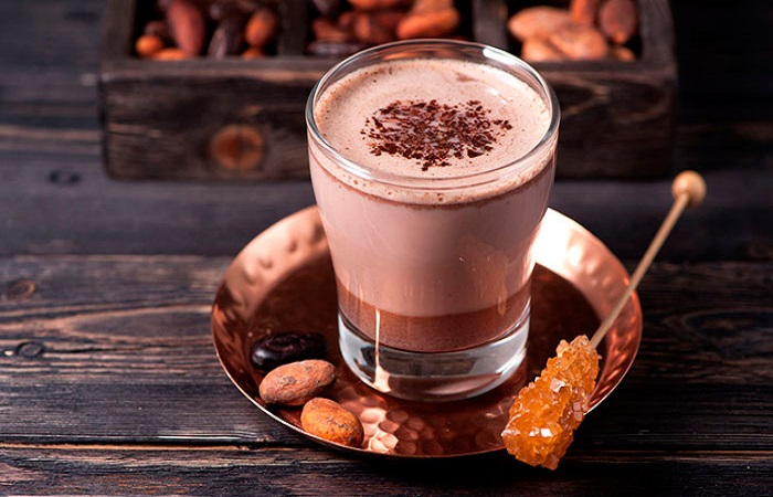 какао в стакане